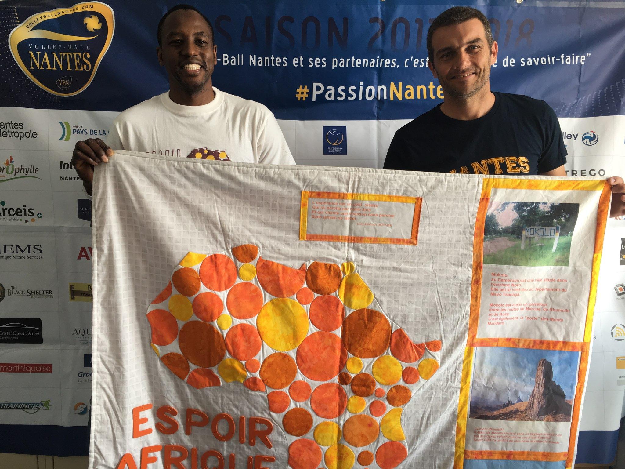 Officialisation du partenariat entre Espoir Afrique et le club de Volley-ball Nantes (Ligue A féminine)