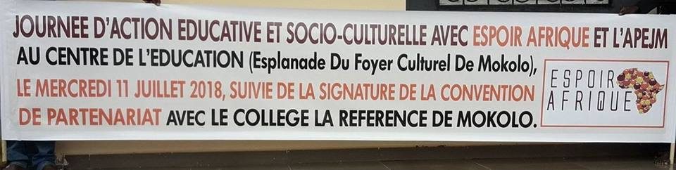 Journée éducative et socio-culturelle du 11/07/18 à Mokolo (Cameroun)